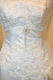 Wedding dress detail. Detail of a wedding dress Royalty Free Stock Image
