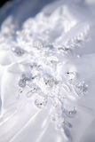 Wedding dress detail. With embroidery Stock Images