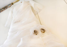 detail wedding dress Royalty Free Stock Photos