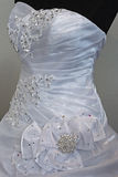 Wedding dress. Detail-18 Royalty Free Stock Photo