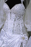 Wedding dress. Detail-41 Stock Photos
