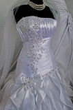 Wedding dress. Detail-47 Royalty Free Stock Image