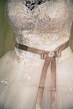 Wedding dress. Detail-65 Stock Image