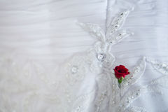 Wedding dress detail Royalty Free Stock Photos