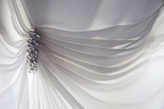 Wedding Dress Detail. Detail of a wedding dress soft and lacey Stock Photography