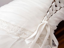 Wedding dress detail Stock Image