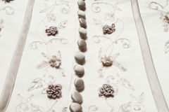 Wedding dress details Royalty Free Stock Photography