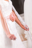 Wedding dress details Stock Image