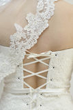 Wedding Dress detial Stock Images
