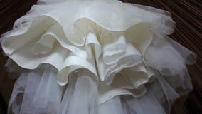 Wedding dress - dolly shot stock footage