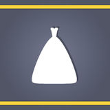 Wedding dress. Elegant wedding dresses for pretty bride. Isolated vector illustration in flat style. Classical and modern silhouette of bridal gown Stock Photos