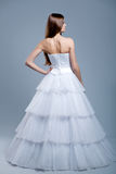 Wedding dress on fashion model Royalty Free Stock Photography