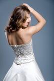 Wedding dress on fashion model Royalty Free Stock Photos