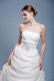 Wedding dress on fashion model Stock Photos