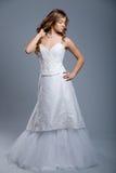 Wedding dress on fashion model Stock Image