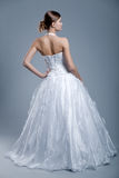 Wedding dress on fashion model Stock Photography