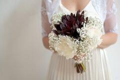 Wedding Dress Flowers Stock Photography