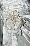 Wedding dress - flowers detail Stock Photos