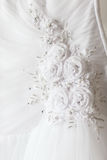 Wedding dress with flowers Royalty Free Stock Photography