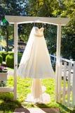 Wedding Dress Hanging Up Royalty Free Stock Photos