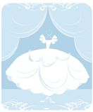 Wedding dress illustration Royalty Free Stock Photos
