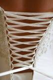 Wedding Dress Lace Up Stock Photo