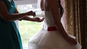 Wedding Dress stock video footage