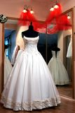 Wedding dress on mannequin Royalty Free Stock Photography