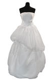 Wedding dress on mannequin Stock Image