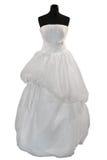 Wedding dress on mannequin Stock Image