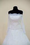 Wedding dress on mannequin Royalty Free Stock Photos