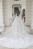 Wedding dress on a mannequin made in put the bride Stock Photo