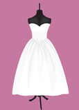 Wedding dress on a mannequin Royalty Free Stock Image