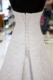 Wedding dress on a mannequin Stock Photography