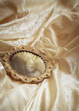 Wedding Dress & Mirror Stock Photography