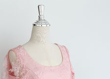 Wedding dress in model mannequin Stock Photos