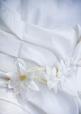 Wedding dress with with patterns Royalty Free Stock Photography