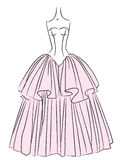 Wedding dress - Pink Royalty Free Stock Photo