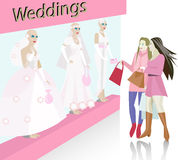 Wedding dress salon Royalty Free Stock Photo