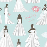 Wedding dress set pattern. Fashion bride Dress made in modern style Royalty Free Stock Images