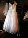 Wedding dress and shoes Royalty Free Stock Photo