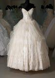 Wedding dress shop Royalty Free Stock Images