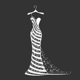 Wedding dress silhouette stock photography