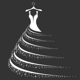 Wedding dress silhouette royalty free stock photos