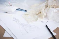 Wedding dress sketch Royalty Free Stock Photography