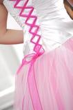 Wedding dress, stays Stock Photos