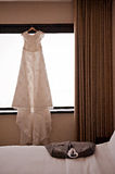 Wedding dress and suite Royalty Free Stock Photo