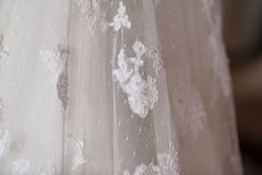 Wedding dress texture Royalty Free Stock Image