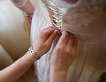 Wedding Dress Time Royalty Free Stock Photography