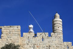 Wedding dress on the Tower of David Royalty Free Stock Photo